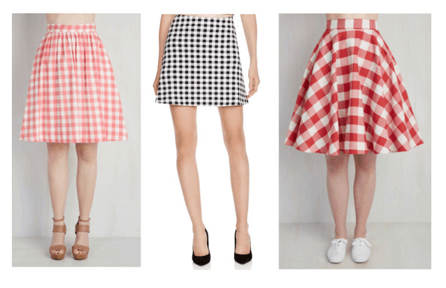 Class to night out gingham skirt