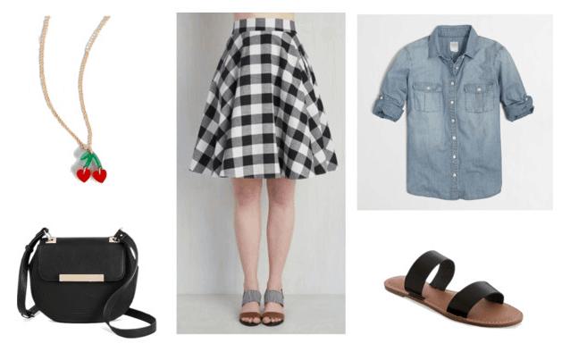 Gingham skirt for class