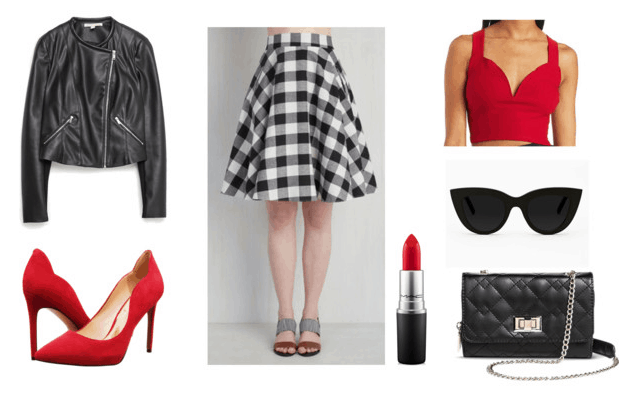 Gingham Skirt for Night