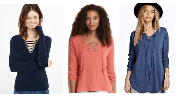 Class to Night Out: Lace-up Shirt