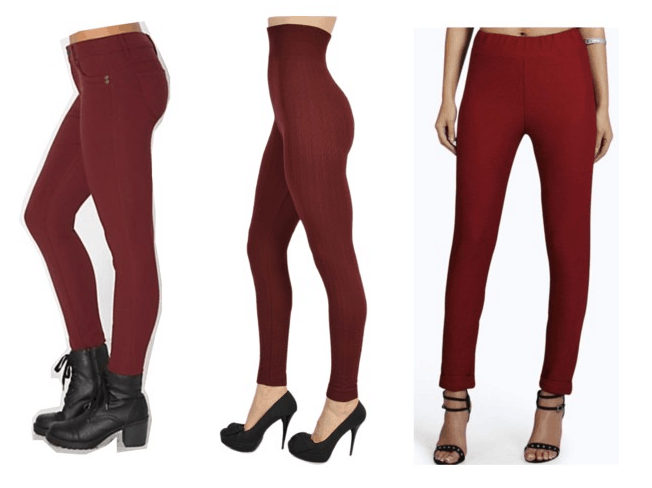 Class to Night Out: Maroon Leggings