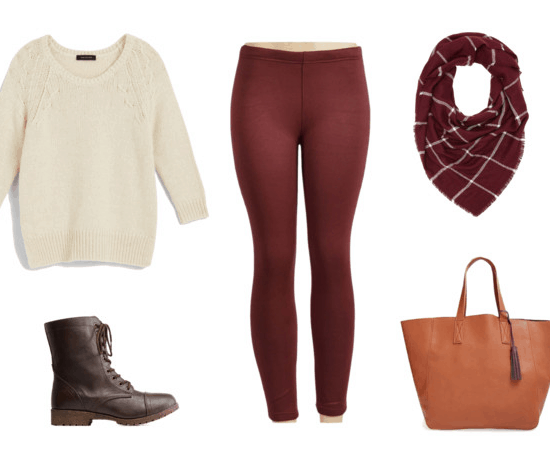 Maroon Leggings for Class
