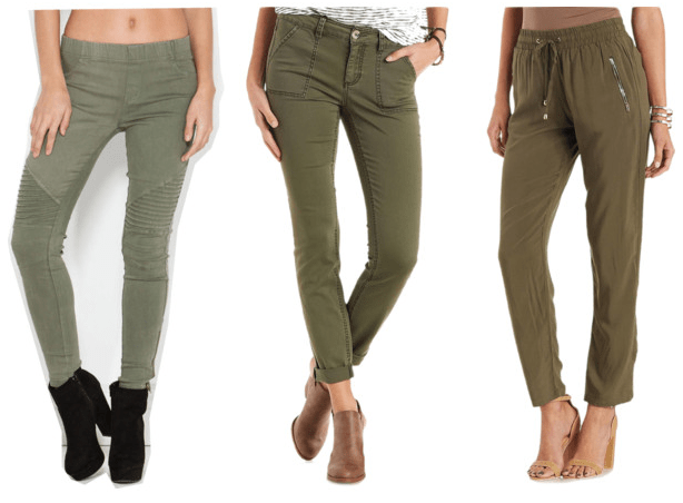 Class to Night Out: Olive Pants
