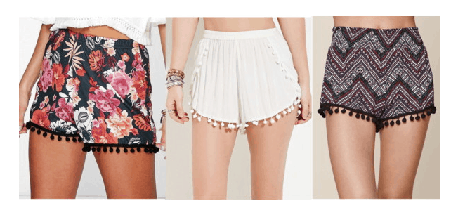 Class to Night Out Pom Pom Shorts