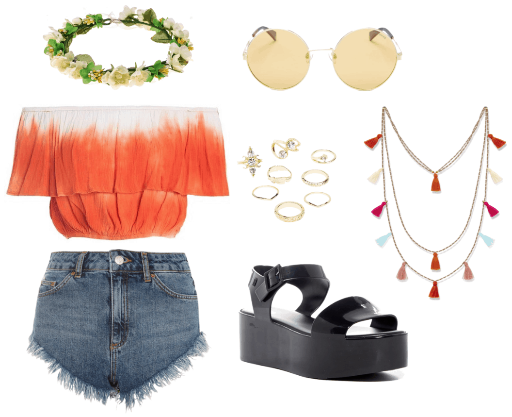 """Outfit for a """"Coachella"""" themed party"""