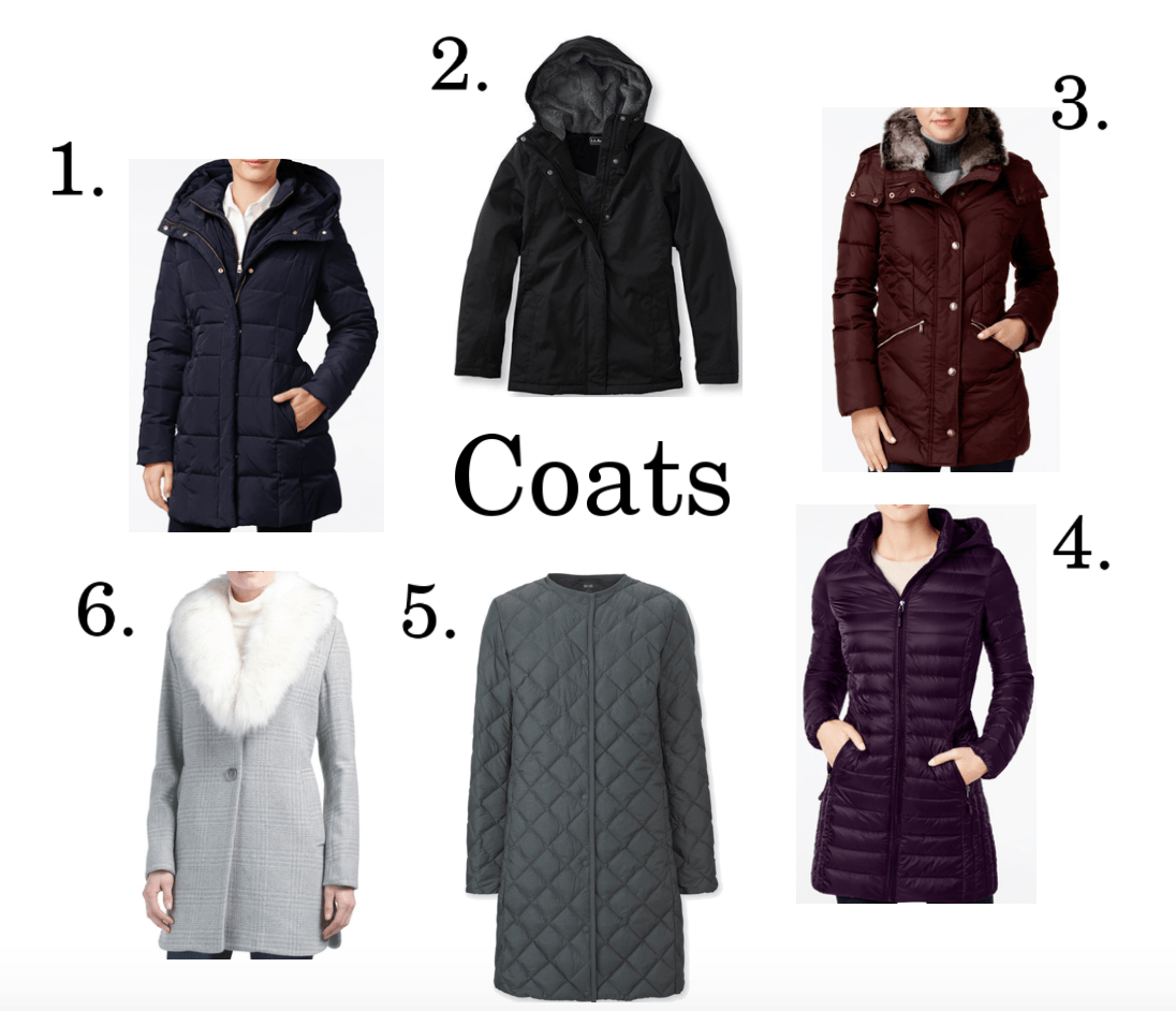 6 winter coat ideas.