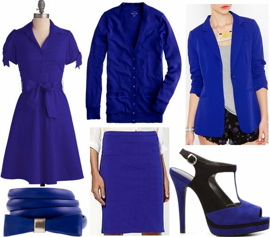 Cobalt clothes and accessories