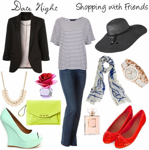 Coco chanel inspired striped top and jeans outfit