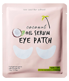 Photo of coconut oil serum eye patch.