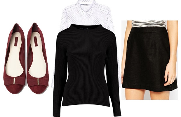 Collared sweater business casual outfit