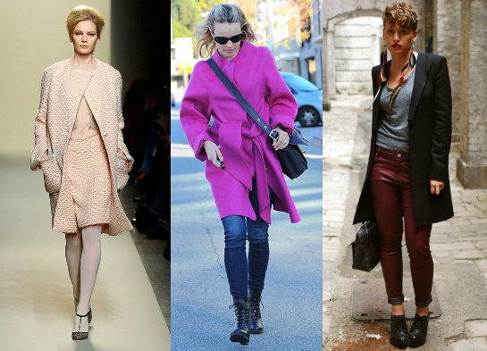 Fashion Trendswinter trend collarless coats foto