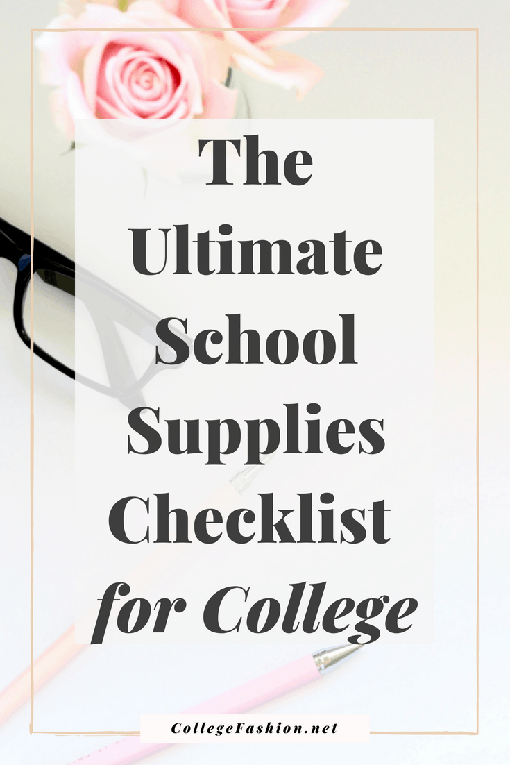 College checklist: Ultimate school supplies checklist, here's what you actually need to bring to college