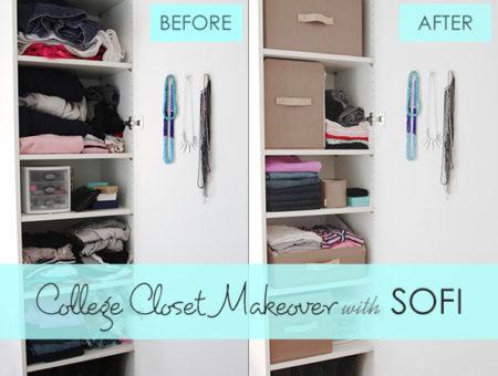 College closet makeover with SOFI