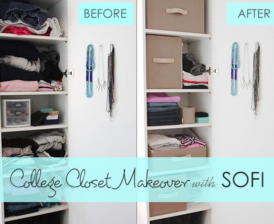 College closet makeover with SOFI