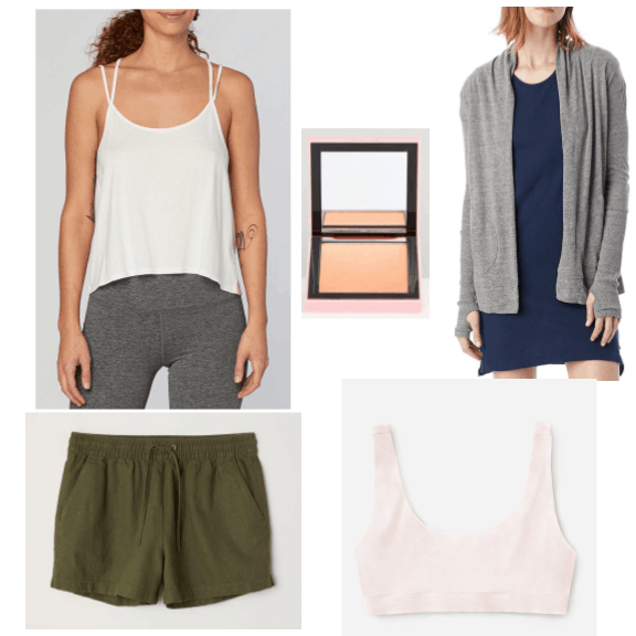 An outfit featuring casual basics from sustainable brands