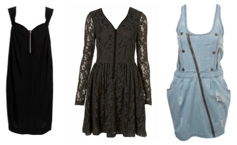 College Fashion Trend: Exposed Zipper Dresses