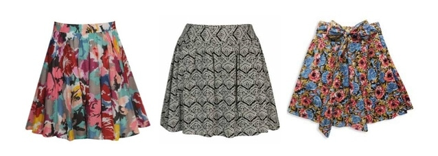 Full skirts: hot college fashion trend for fall