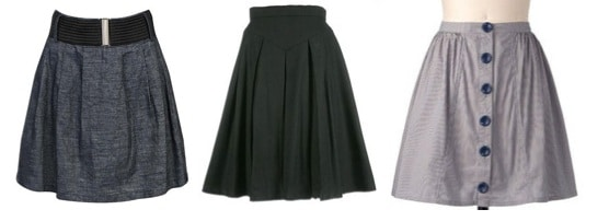 Fashion trends for college students: full skirts