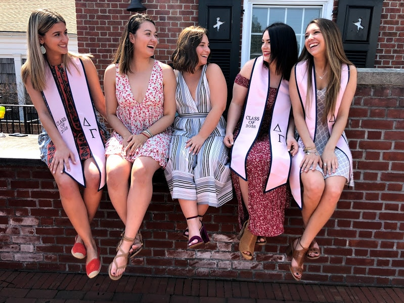College girls laughing