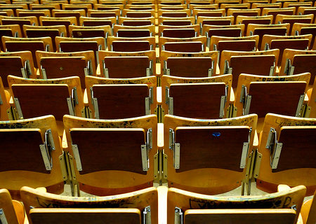 College lecture hall seats