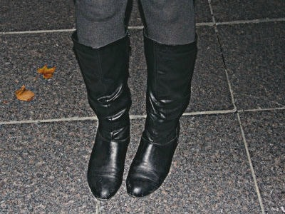 College shoe trend riding boots