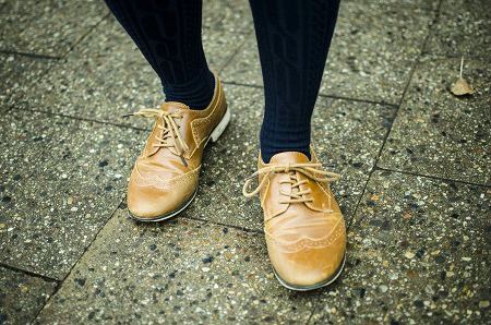 College street style oxfords