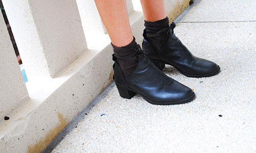 College street style - vintage-style heels