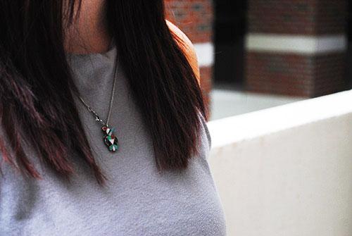 College street style - vintage jewelry