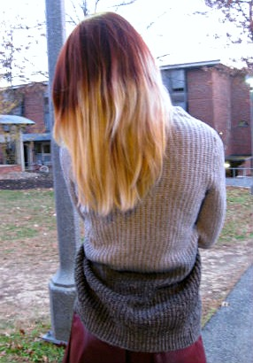 College student fashion trend ombre