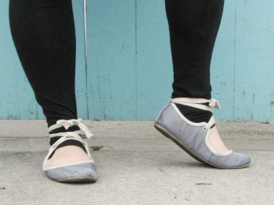 College style - ballet slippers