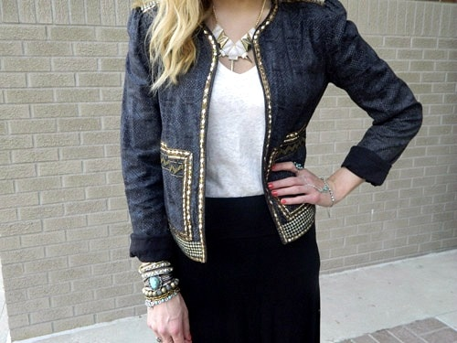 College student wearing anthropologie