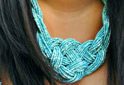 Beaded necklace - Skidmore College student style