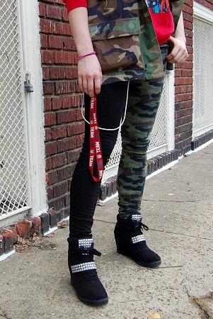 College style trend printed leggings