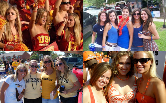 College tailgating style and fashion