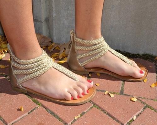 College trend gladiator sandals