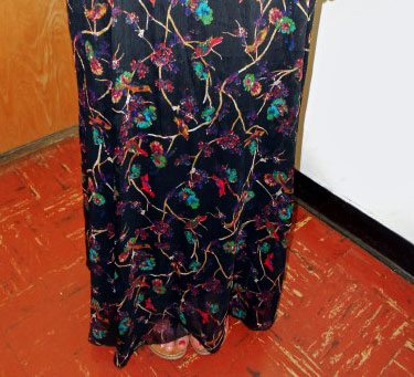 College trend: Patterned maxi skirt