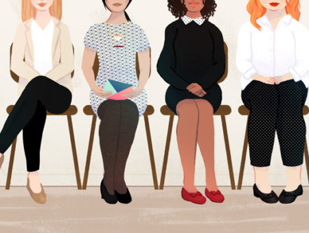 Women's interview outfits illustration by Stacey Abidi