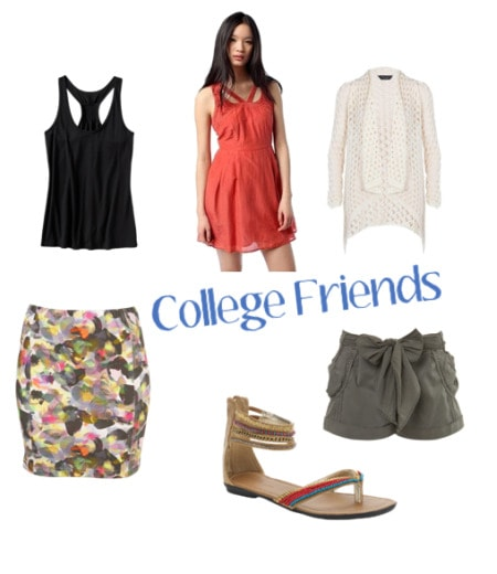 outfit for visiting college friends