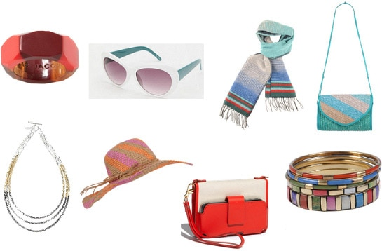 Color block accessories under $50