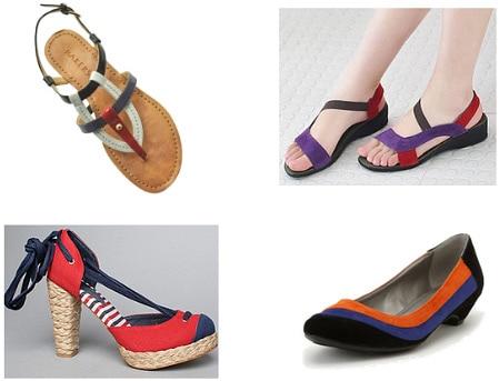 Color block shoes under $50
