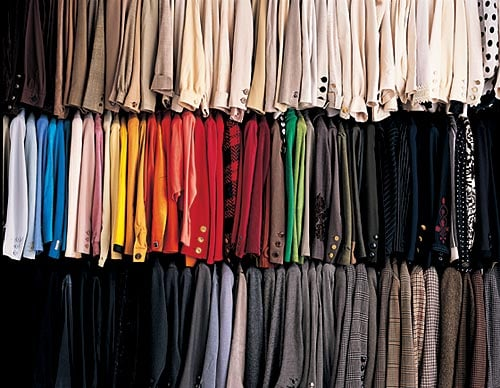 Color-coded closet