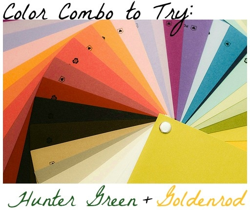 Color Combo to Try: Hunter Green + Goldenrod