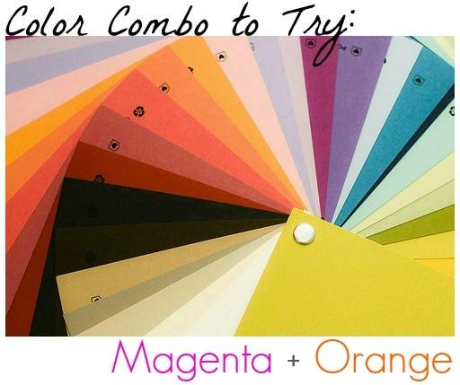 Color combo magenta orange