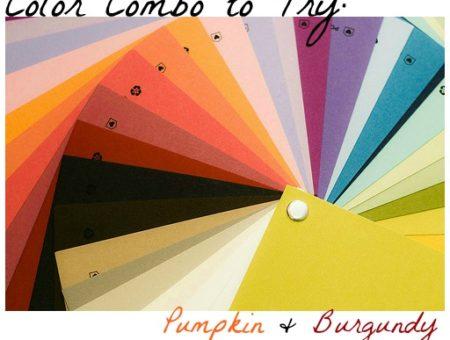 Color combo pumpkin burgundy