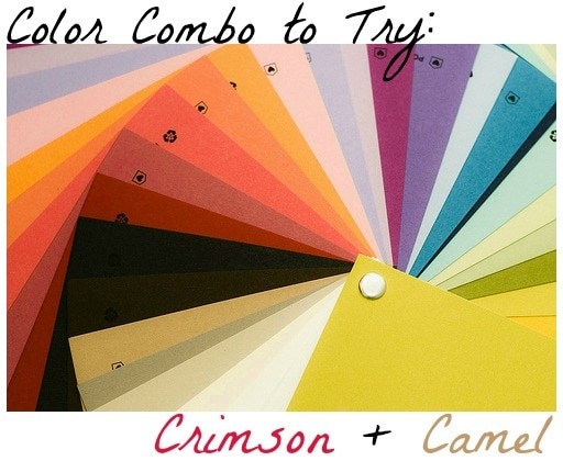 Color combo to try crimson and camel