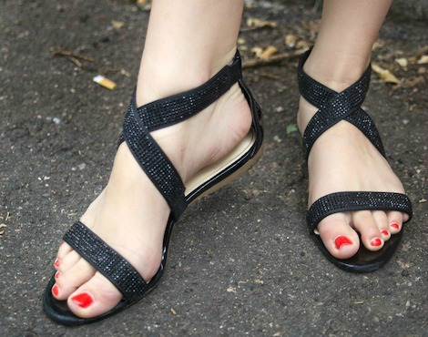 Colorado state street style sequin sandals