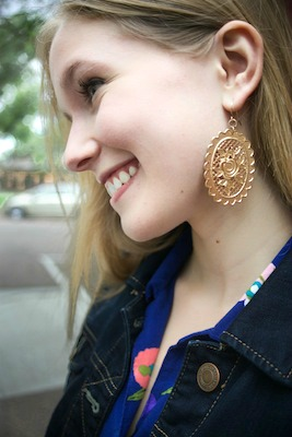 Colorado state street style statement earrings