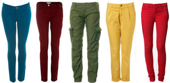 Fall 2011 fashion trend: Colored jeans and pants