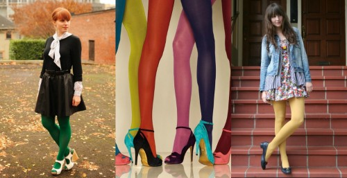Colored Tights Street Style