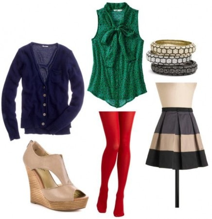 Colored Tights Sample Outfit